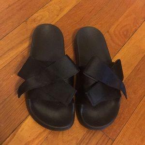 Zara Black Bow Sandals